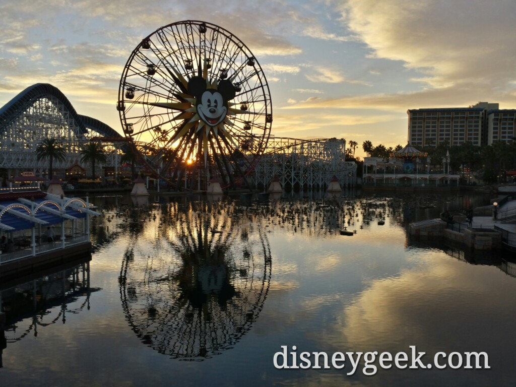 Paradise Bay sunset this evening at Disney California Adventure