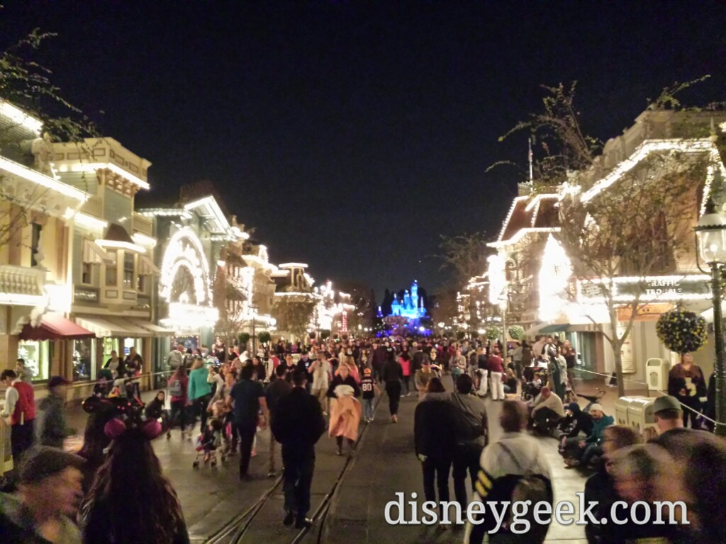 Main Street USA #Disneyland at 6:45pm