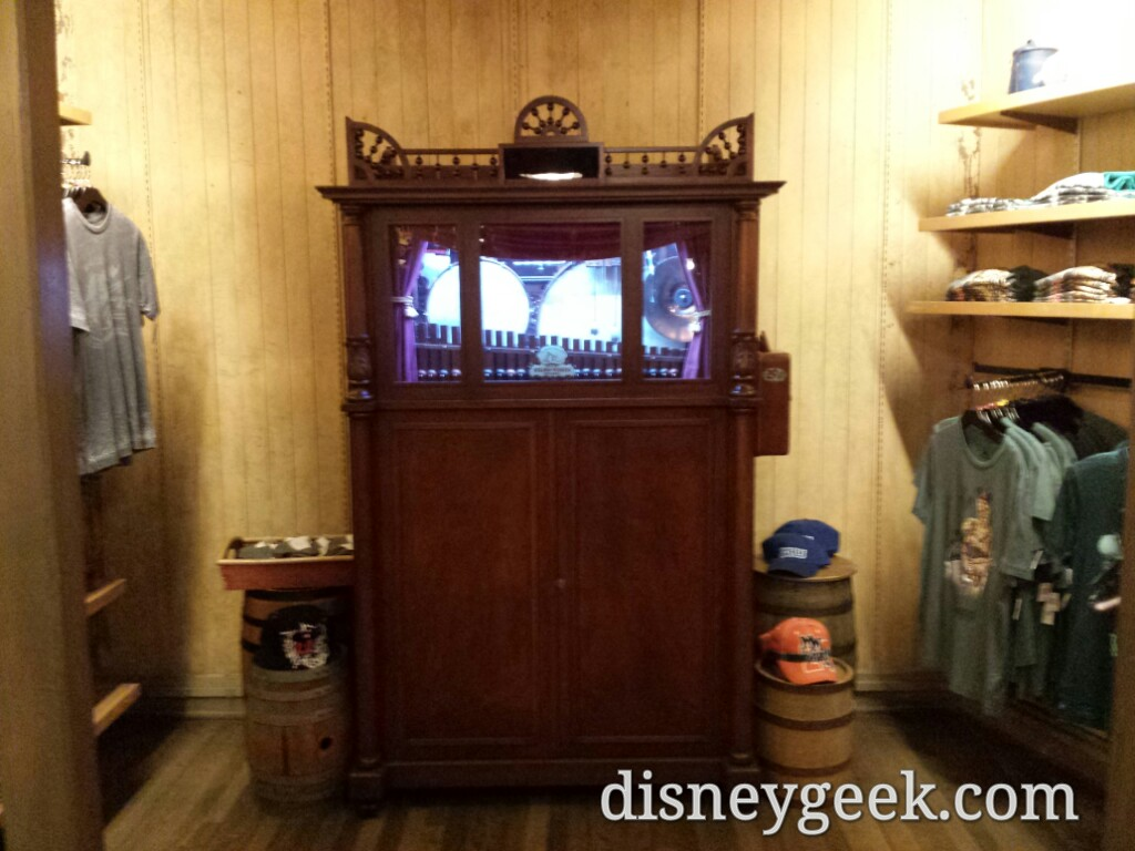 A music box in the back of Silver Spur Supplies in Frontierland
