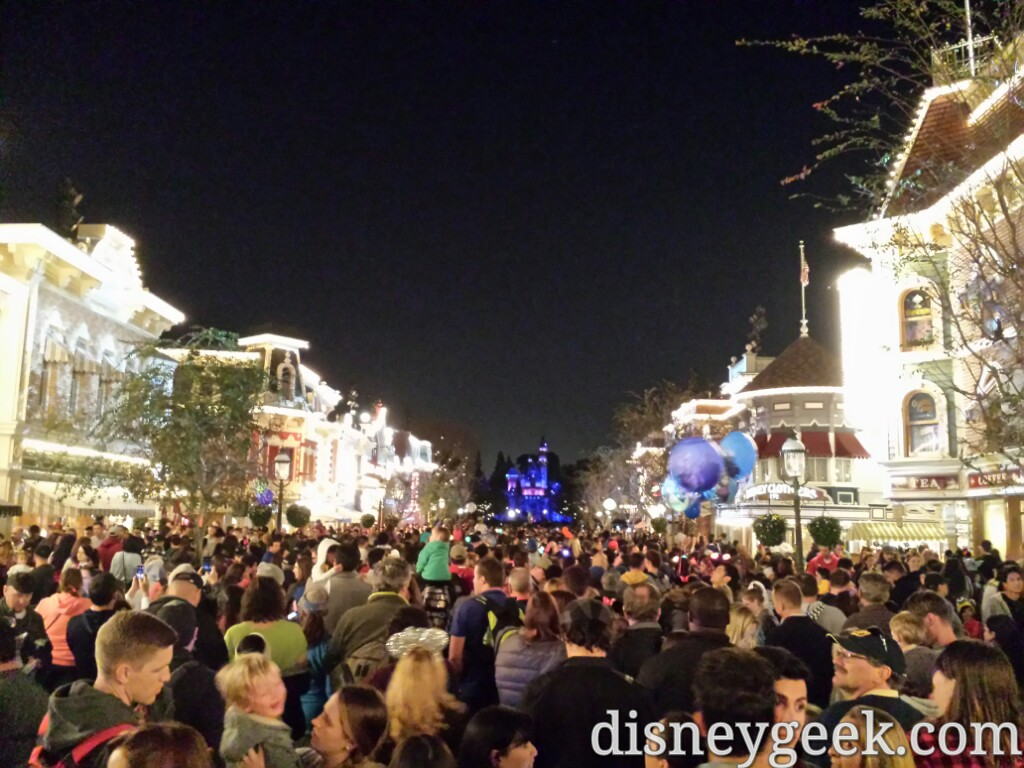 Main Street USA waiting for #Disneyland Forever