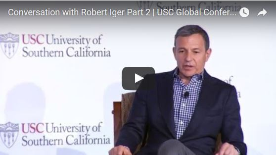 Bob Iger @ USC Global Conference discussing Shanghai Disneyland, Star Wars & Global Strategy
