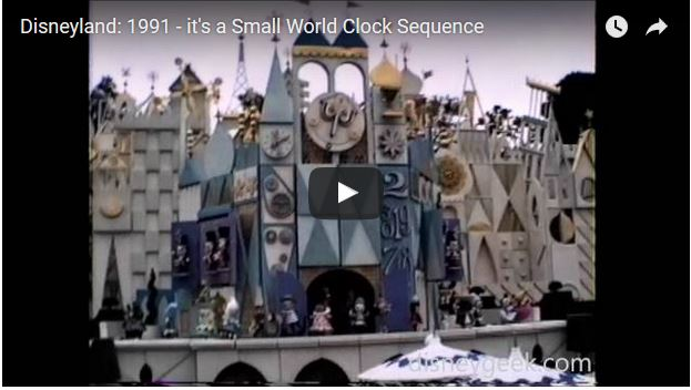Disneyland 1991 – it's a Small World Clock Sequence (Video)