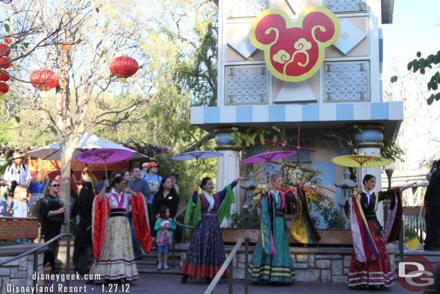 In 2012 the Lunar New Year Celebration was in the Small World Mall area at Disneyland.