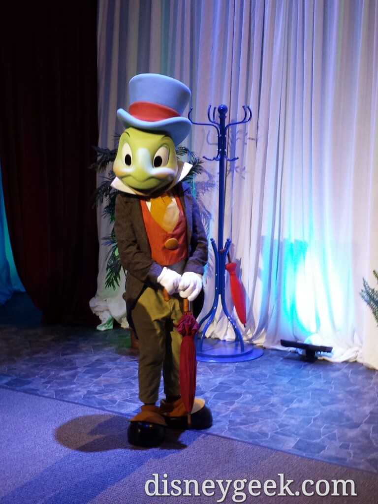 Jiminy Cricket meeting Annual Plassholders at #APDAYS