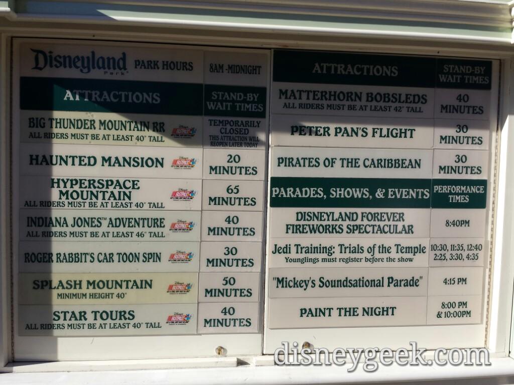 #Disneyland waits as of 3:07pm