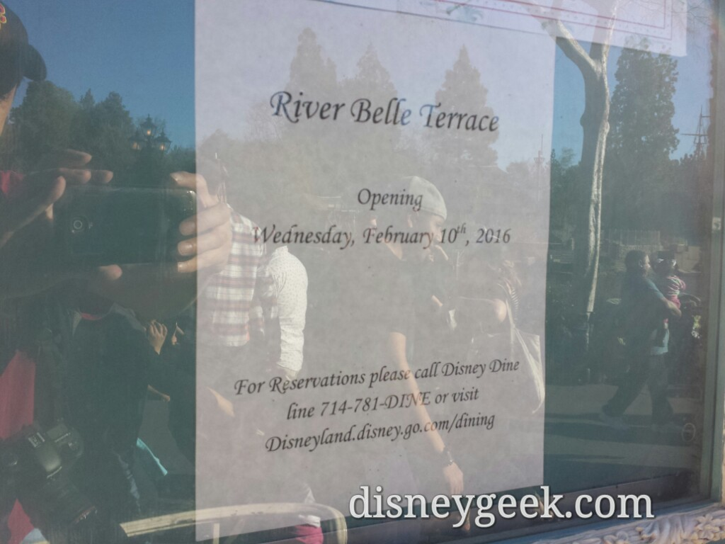 River Belle Terrace new menu #Disneyland