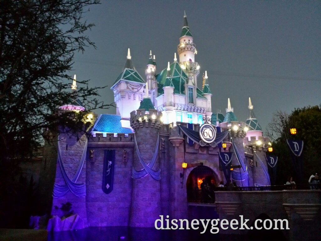 Sleeping Beauty Castle #Disneyland this evening