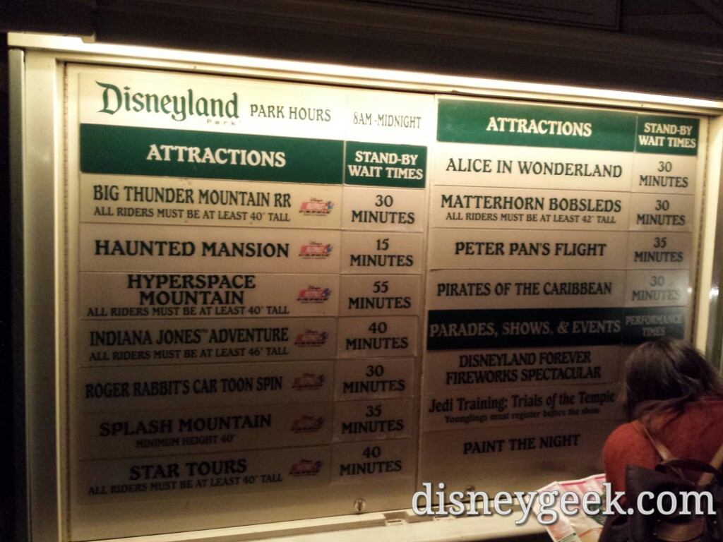 #Disneyland waits as of 6:28pm