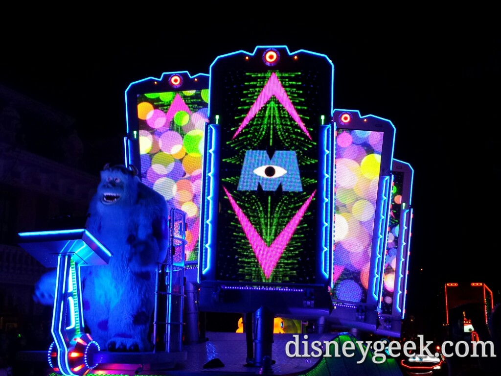 Monsters Inc in Paint the Night #Disneyland60
