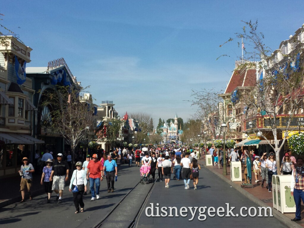 Main Street USA #Disneyland at 1:30pm