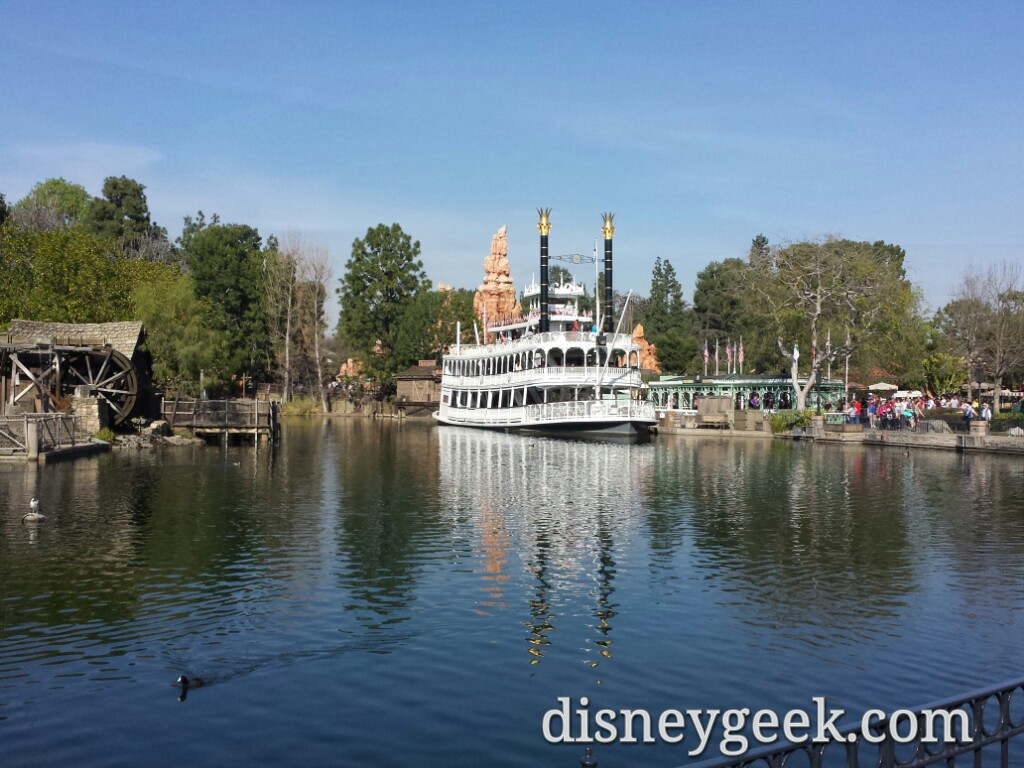 A look around the Rivers of America area at Star Wars progress Disneyland