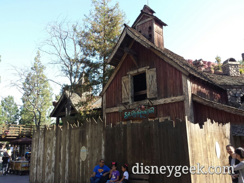 Splash Mountain is closed for annual renovation #Disneyland
