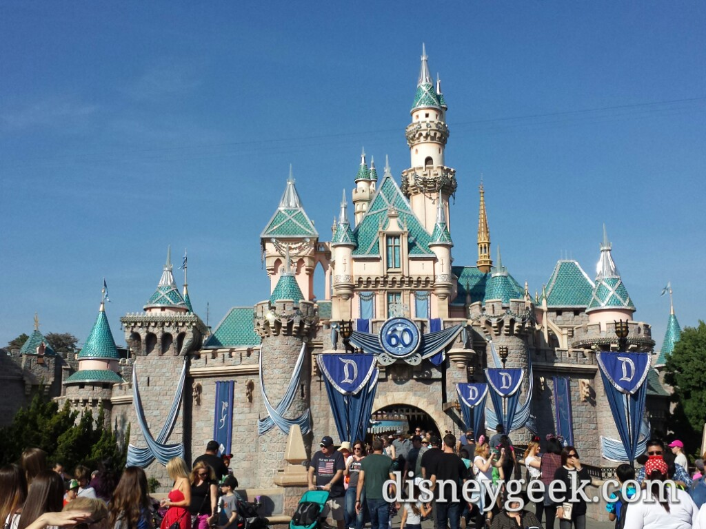 Sleeping Beauty Castle on this picture perfect afternoon #Disneyland