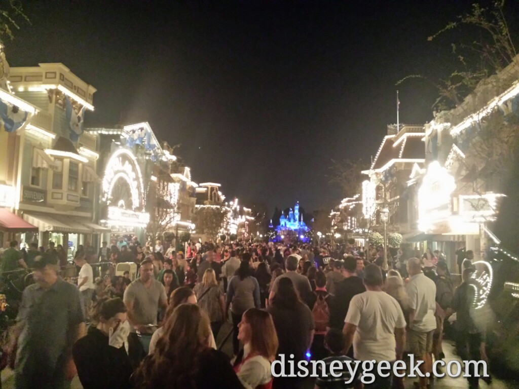 Main Street USA at 6:57pm #Disneyland