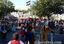 Characters started an impromptu dance party with the Straw Hatters in Town Square
