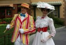 Mary Poppins & Bert at #Disneyland