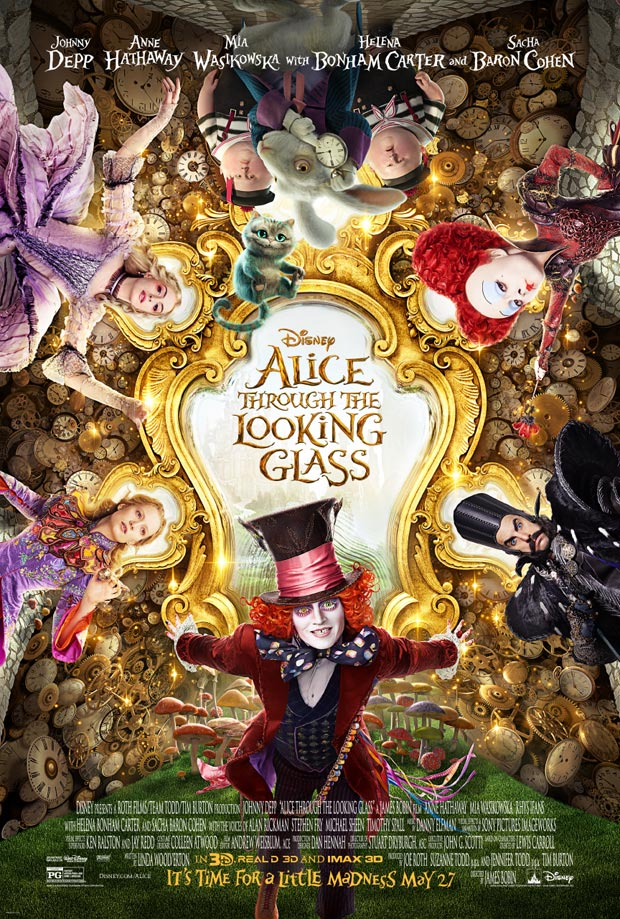 "New Poster for Disney's ""Alice Through the Looking Glass"""