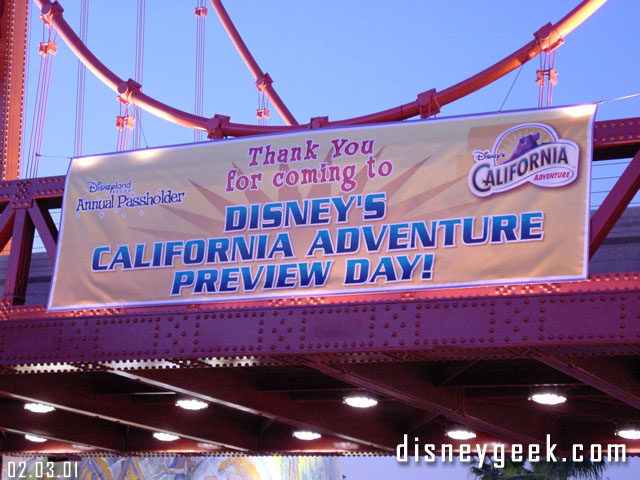 Disney California Adventure: 15th Anniversary – 2/3/01 Preview Day Videos Part I