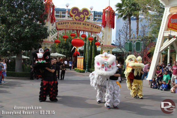 Starting in 2013 the Lunar New Year Celebration moved to Paradise Gardens in Disney California Adventure and has been there since.