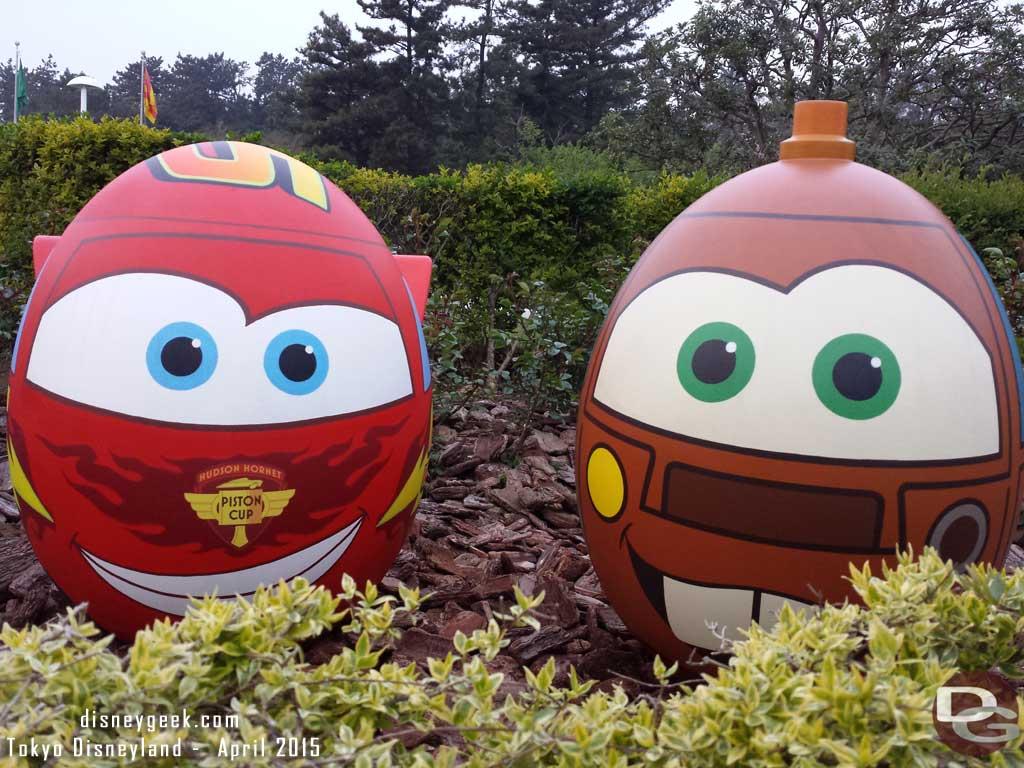 Mater & Lightning near the Grand Circuit Raceway