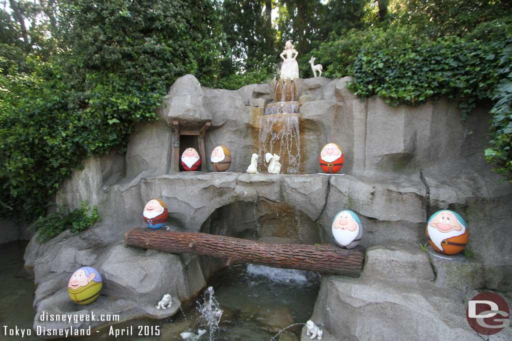 Snow White Grotto features the 7 Dwarfs as Eggs