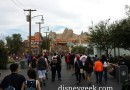 Route 66 in #CarsLand has a good crowd considering it an early in March