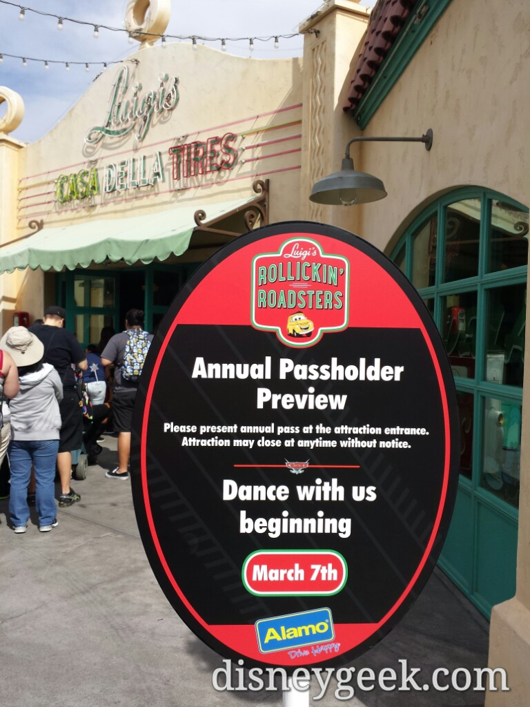 Luigi's Rollickin' Roadsters – Cars Land (AP Preview)