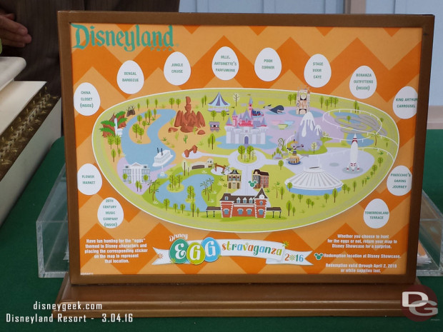 2016 Egg-Stravaganza @ Disneyland Resort - Disneyland Map