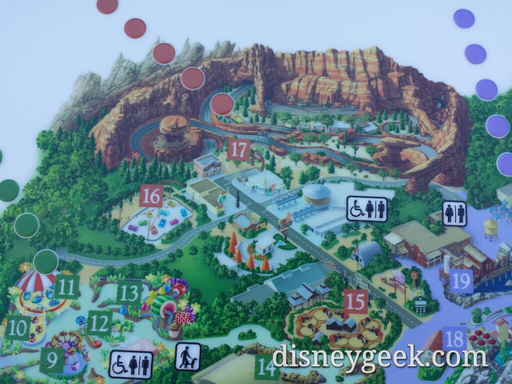 Map Of California Disney.Disney California Adventure Braille Map Has The Roadsters Also