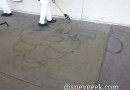 Goofy water art on Sunset Blvd at Disney California Adventure