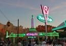 #CarsLand neon at Ramones & Flos
