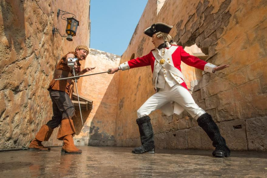 Action abounds throughout Treasure Cove with exciting entertainment throughout the land.
