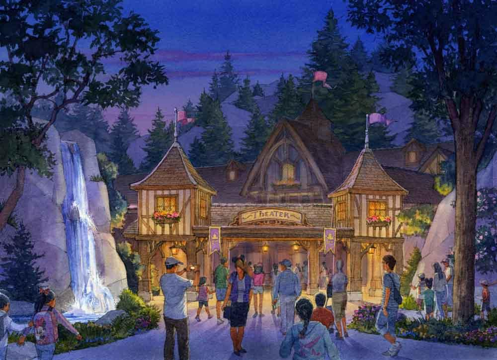 Exterior of Live Entertainment Theater - These concept images are subject to change. © Disney