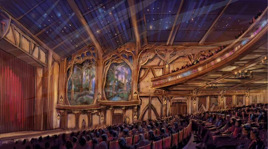 Interior of Live Entertainment Theater - These concept images are subject to change. © Disney