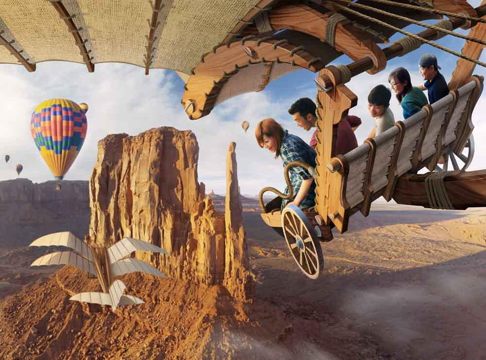 Concept image of the Guests experiencing Soarin' (tentative name)