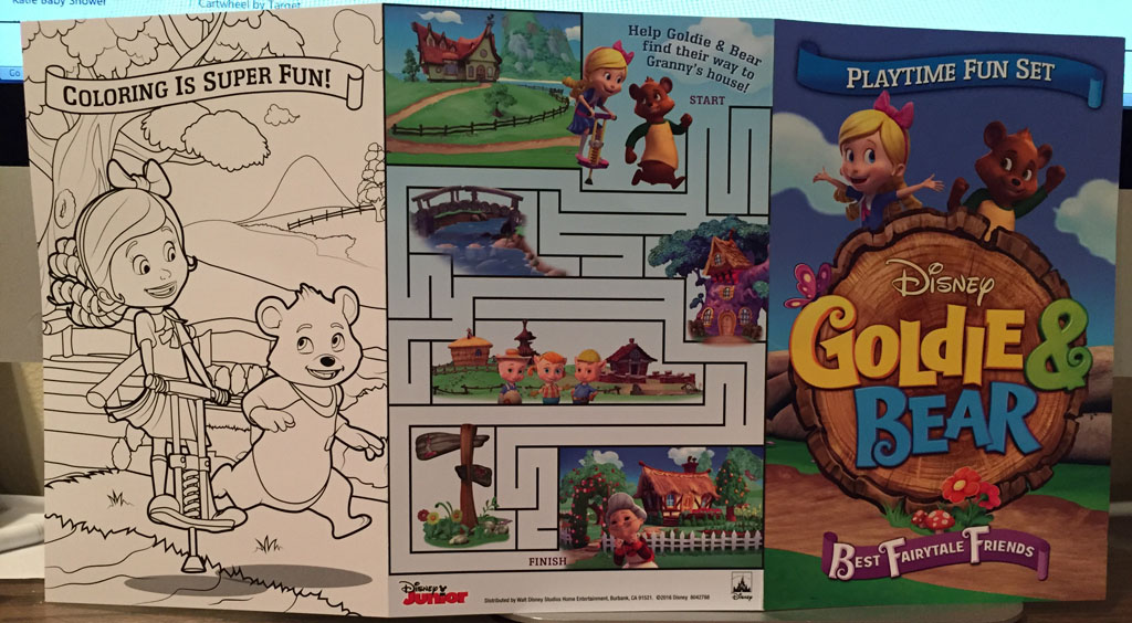 Goldie & Bear DVD Activity Sheet