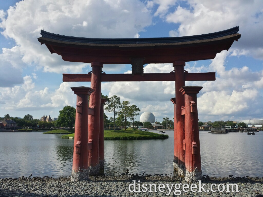 A classic Epcot shot, Spaceship Earth from Japan