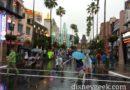 Arriving at a rainy Disney's Hollywood Studios