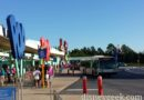 Clear skies this morning at Pop Century bus stops #WDW