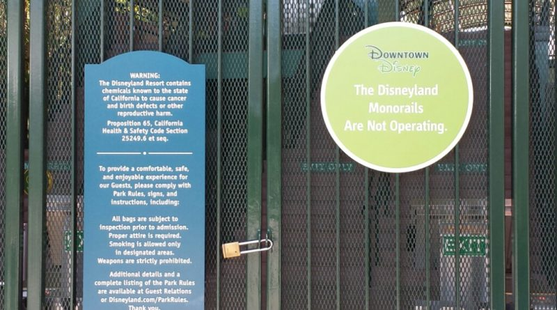 #Disneyland Monorail is closed for renovation