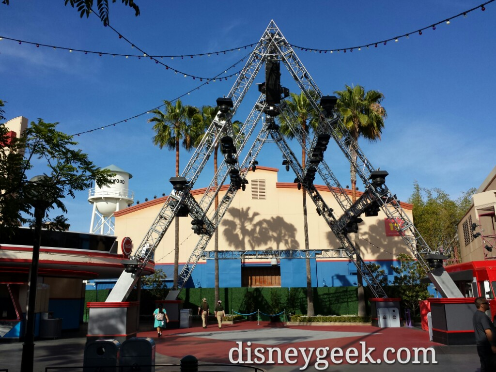 The lights, stage and bars are still all on Hollywood Land, just not in use