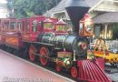 #Disneyland Railroad C.K. Holliday parked in the New Orleans Square station