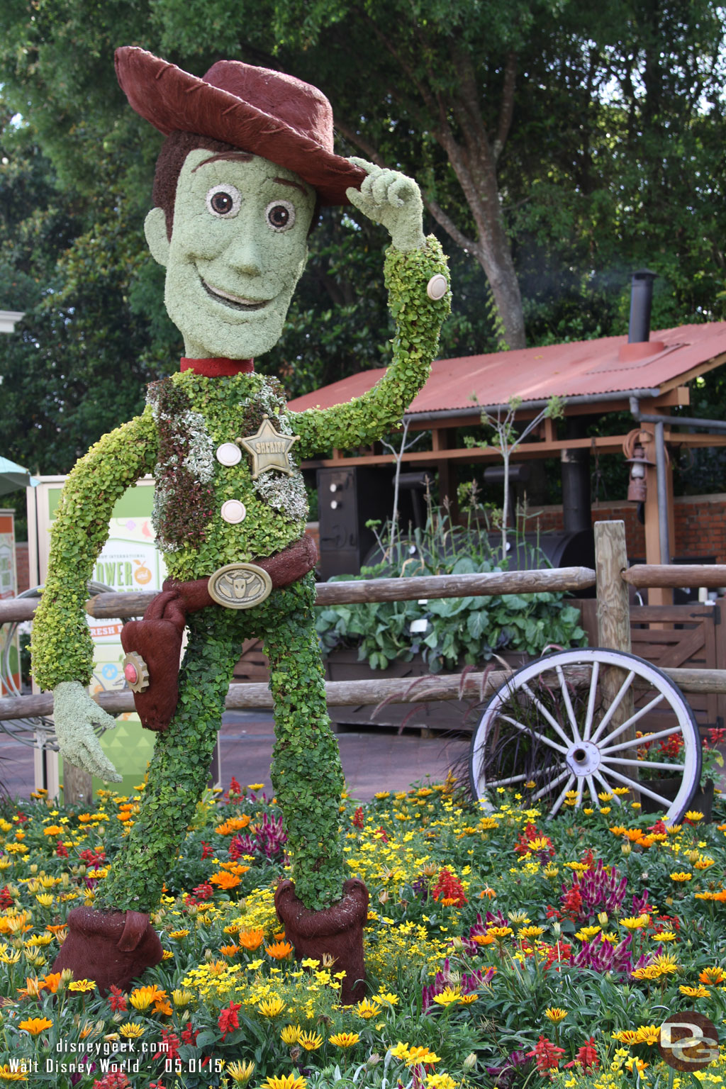 2016 - Woody Topiary at Epcot