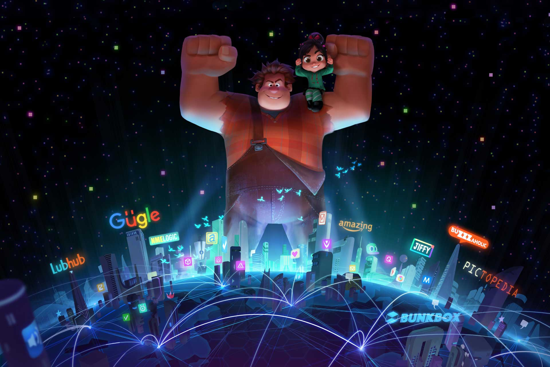 WRECKING THE INTERNET — Wreck-It Ralph is heading back to the big screen—this time he's wrecking the internet. John C. Reilly returns as the voice of the bad-guy-turned-good, and Sarah Silverman once again lends her voice to the girl with the game-winning glitch, Vanellope von Schweetz. Directed by Rich Moore and Phil Johnston, and produced by Clark Spencer, the untitled sequel hits theaters on March 9, 2018. ©2016 Disney. All Rights Reserved.