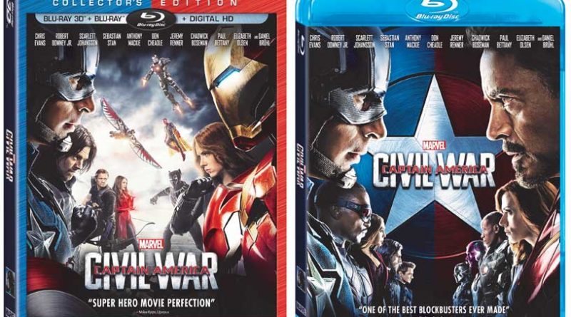 Captain America Civil War Blu Ray