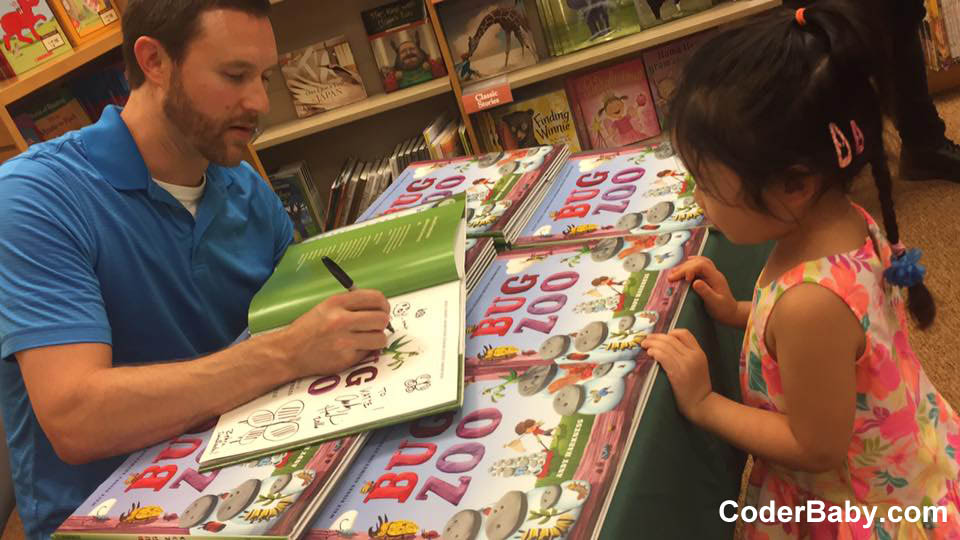 Andy Harkness Book Signing of Bug Zoo at B&N