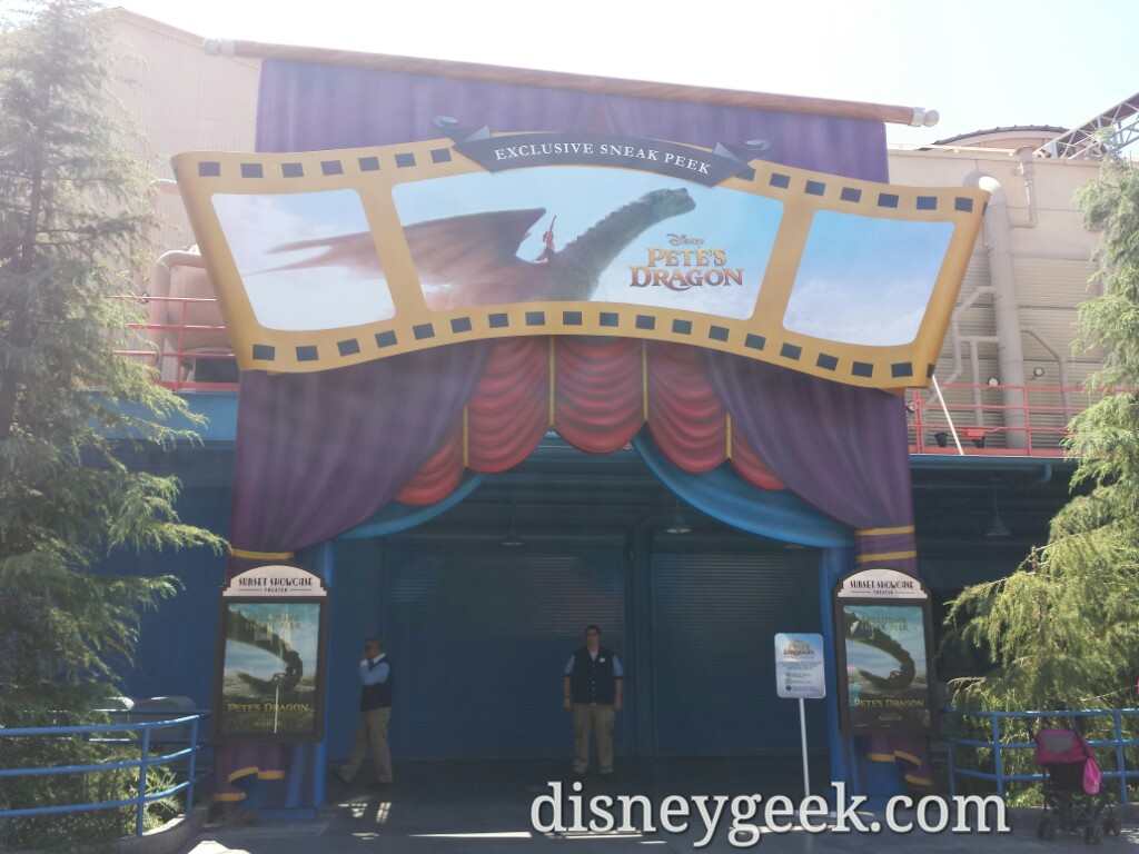 A Petes Dragon Preview Runs Every 20 Minutes In The Sunset Showcase Theater