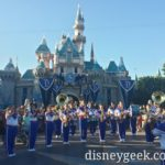 #Disneyland 2016 All-American College Band in front of Sleeping Beauty Castle #aacb2016