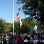#Disneyland nightly Flag Retreat Ceremony in Town Square