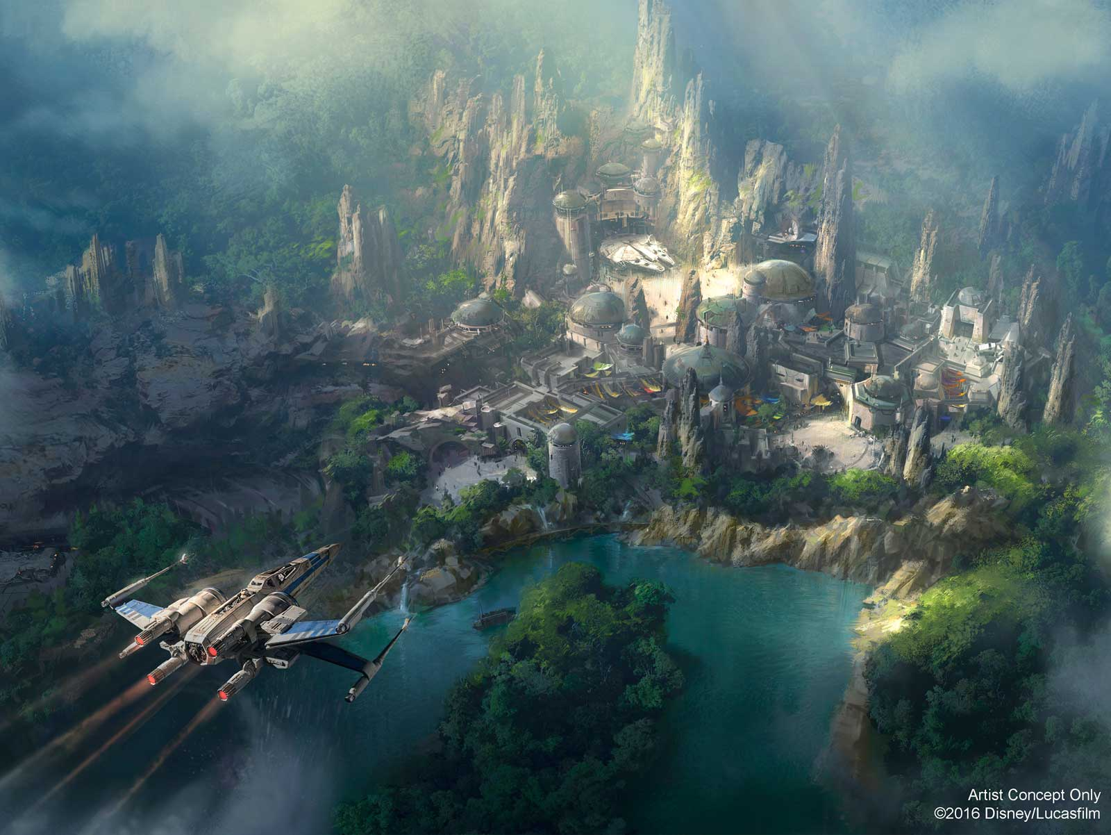 Disneyland Star Wars Concept Art